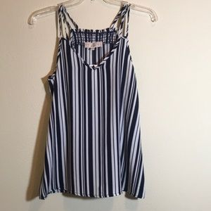 NWT! Pink Republic tank top blue and white